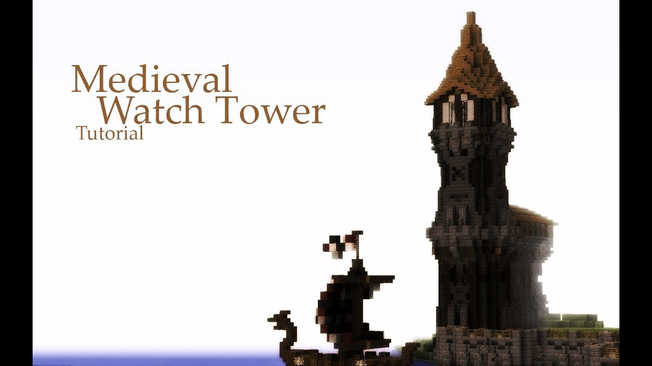 Minecraft House Blueprints Layer By Layer Minecraft Medieval Watch Tower Tutorial Youtube