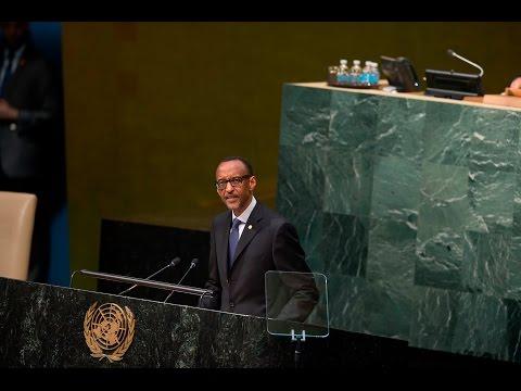President Kagame addresses the United Nations General Assembly- New York, 29 September 2015
