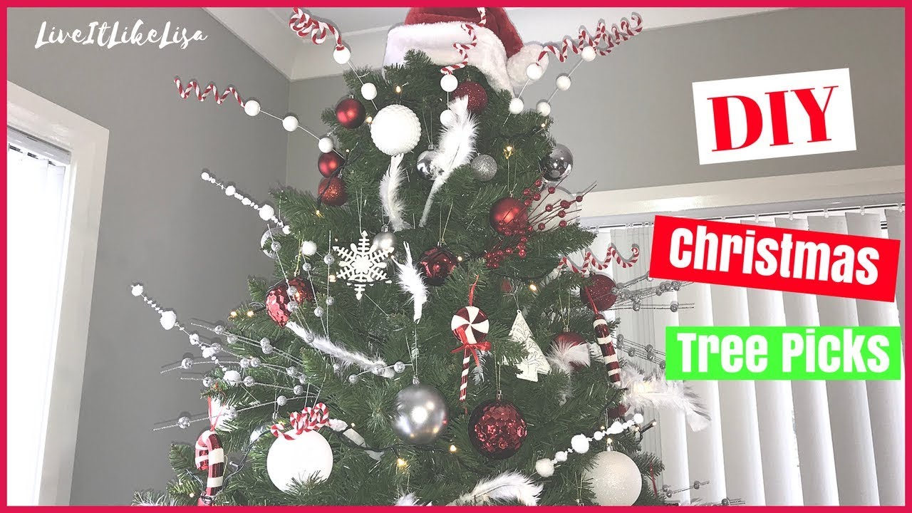 Christmas diy decor tree picks youtube