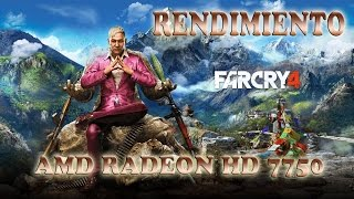 Rendimiento: Far Cry 4 AMD Radeon 7750 | R7 250 | R7 250X
