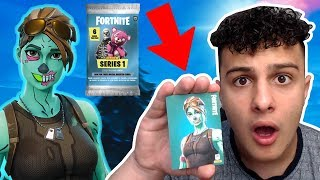 😱GHOUL TROOPER 🧟 the RARE FORTNITE booster PACKS card?! 2 LEGENDARY SKINS WTF!!