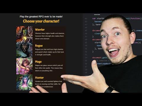 23: How To Create A Game Using JavaScript   Part 1   Setup, HTML & JavaScript   JavaScript Tutorial