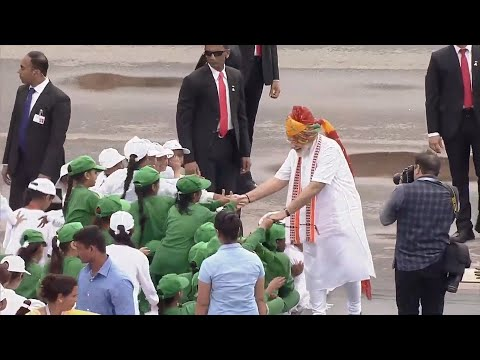 Watch: PM Modi interacts with children after Independence day speech