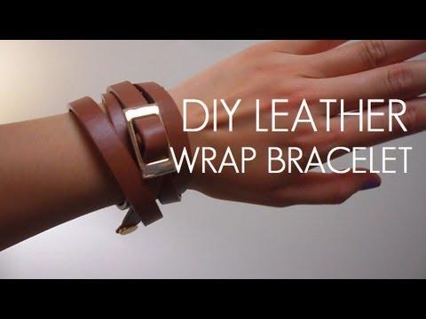 DIY: Belt to Leather Wrap Bracelet