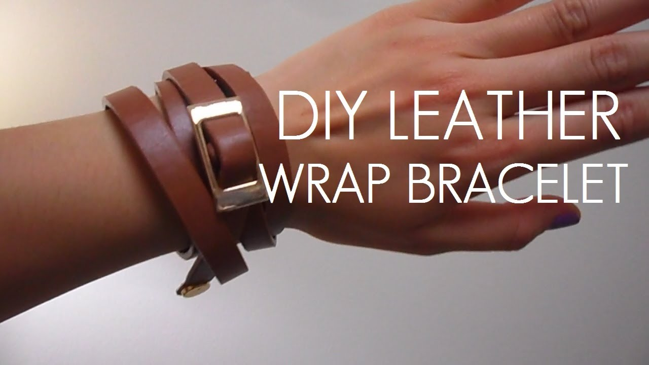 Diy Belt To Leather Wrap Bracelet Youtube