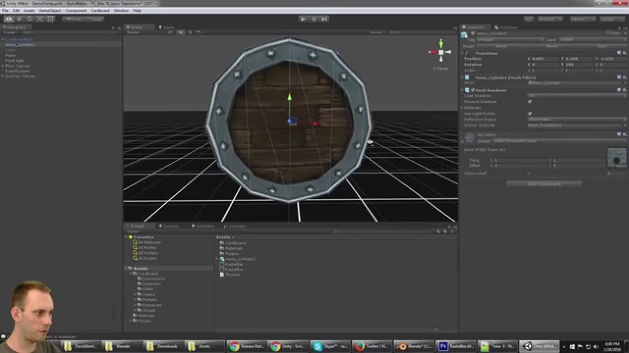 Tutorial: How to create a 3D Radial Menu Button for VR with