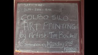 The Colbinabbin Silo Artwork is about to begin.