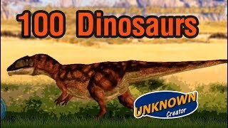 100 Dinosaurs [ Size Comparison ]