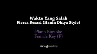 Download lagu Waktu Yang Salah (FEMALE KEY KARAOKE PIANO COVER) - Fiersa Besari (Hanin Dhiya style)