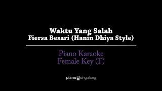 Download Waktu Yang Salah (FEMALE KEY KARAOKE PIANO COVER) - Fiersa Besari (Hanin Dhiya style)