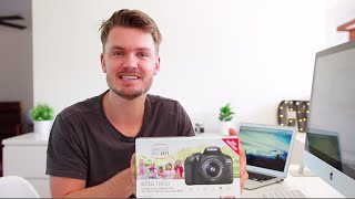 Canon T6 (1300D) Unboxing & Review of what you get in the box