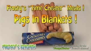Pigs In Blankets Recipe ( Hot Dog Rolls / Crescent Rolls )