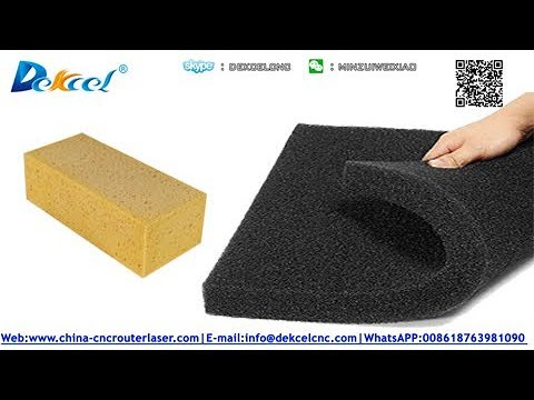 How to cut sponge foam sheet by oscillating knife cut plotter machine
