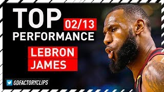 LeBron James DOMINANT Full Highlights vs Thunder - 37 Pts, CLUTCH | 2018.02.13