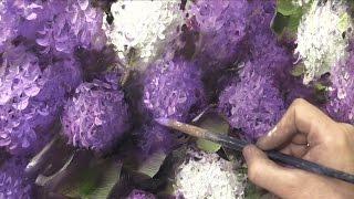 Как написать сирень за 3 часа. Живопись маслом.  Painting lilac in 3 hours. Oil painting