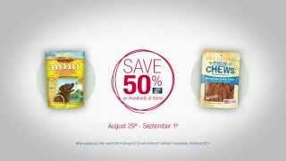 Tv Spot - Petsmart - Get Up And Go - Premium Jerky Chews Peanut Butter Formula - Inspired By Pets