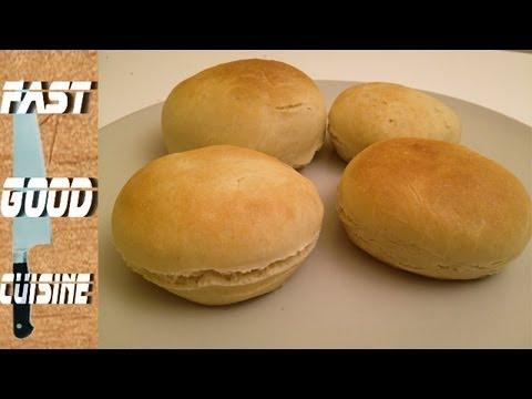 recette facile pain hamburger fastgoodcuisine youtube. Black Bedroom Furniture Sets. Home Design Ideas