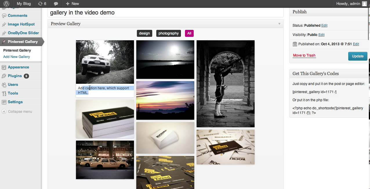 Pinterest Grid Gallery Wordpress Plugin Youtube