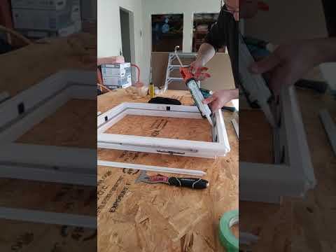 how to replace glass in vinyl window