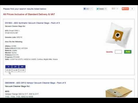 AEG Vacuum Bags & Filters - How to Buy from Dustbag.co.uk