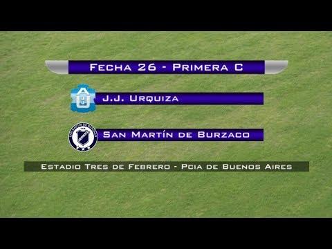 Fecha 26: J.J.Urquiza vs San Martín de Burzaco - En vivo