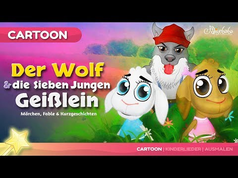 Der Wolf und die sieben jungen Geißlein  Märchen für Kinder  Gute Nacht geschichten