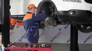 Tie rod end installation NISSAN QASHQAI: video manual