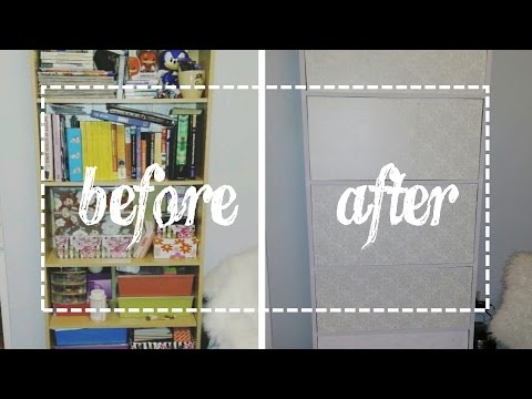 Dollarama DIY - Removable Shelf Panels - Hide the contents of your shelf!