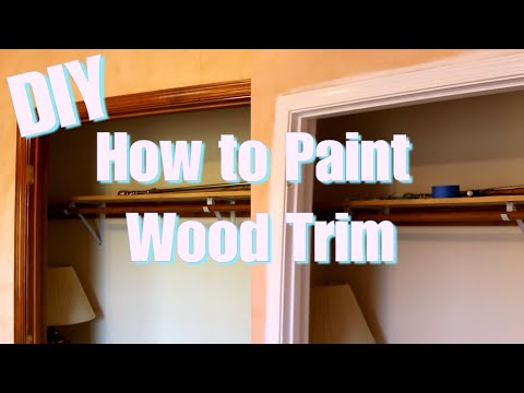 DIY How to Paint Wood Trim