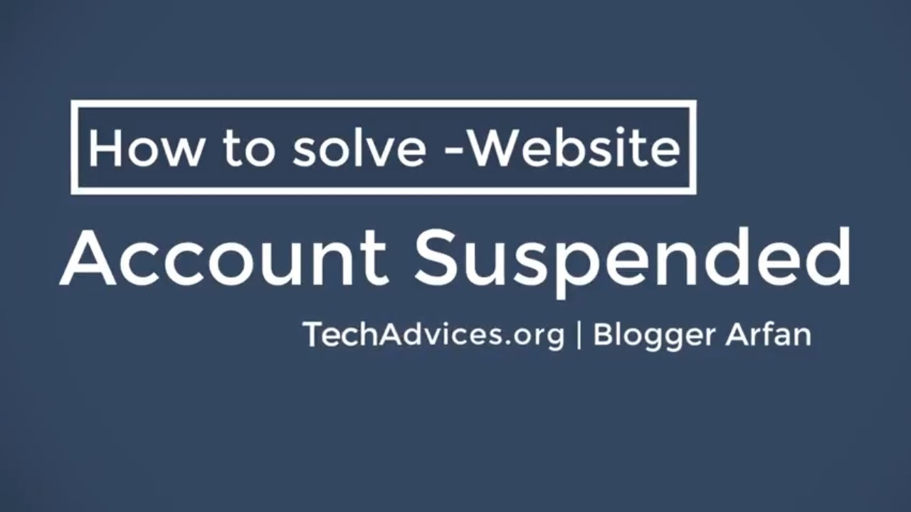 822c0d883 How to solve Account Suspended - YouTube