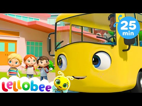 School Bus - Let's Go To School | +More Nursery Rhymes And Baby Songs | Kids Songs | Little Baby Bum