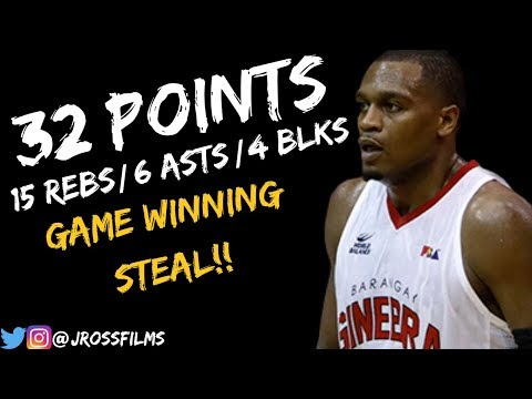 Justin Brownlee Full Highlights Vs. Phoenix   32 Points, 6 Asts, 4 Blks! (9/29/2018)