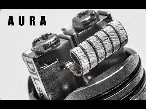 DJLSB Vapes and DigiFlavor Came out with the Aura RDA and I Built Some Framed Staple Coils for It
