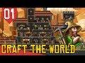 Construindo com a Galera!- Craft the World COOP #01 [Série Gameplay Português PT-BR]