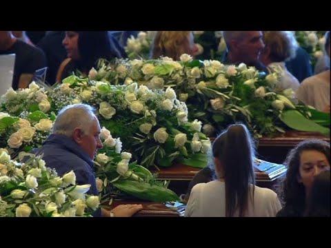 Gênes: début des funérailles d