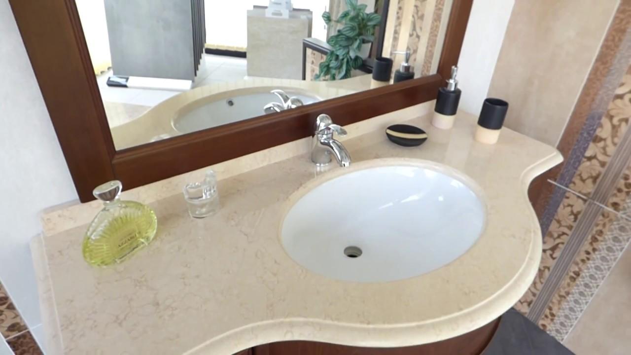 Mobili Bagno lussuosi con top in marmo in vendita online - YouTube