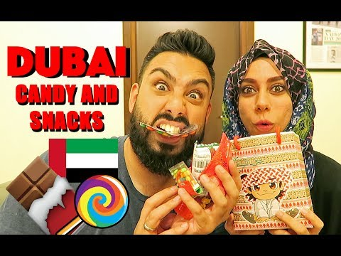 TRYING DUBAI CANDY and SNACKS !!!