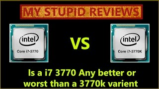 I7 3770k compared to i7 3770:  Is it really worth overclocking your 3770k cpu or swaping your 3770?