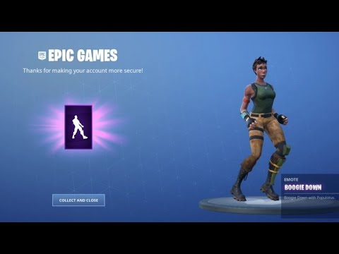 how to unlock 2fa in fortnite(boogie down