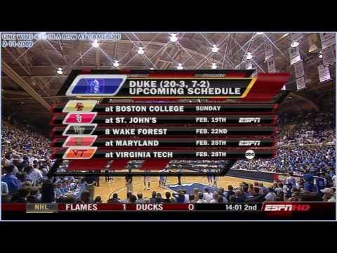 *HD* UNC wins for the 4th year in a row at Cameron Indoor Stadium! FINAL MINUTE (2-11-2009)