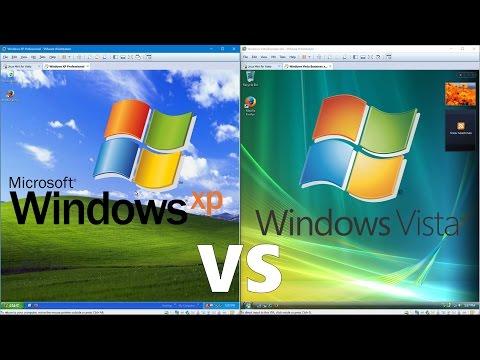 Comparing Windows XP to Windows Vista!