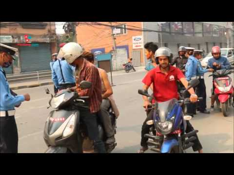 Nepal Traffic Police checking during holi | Daily Exclusive News ( Media Np TV)