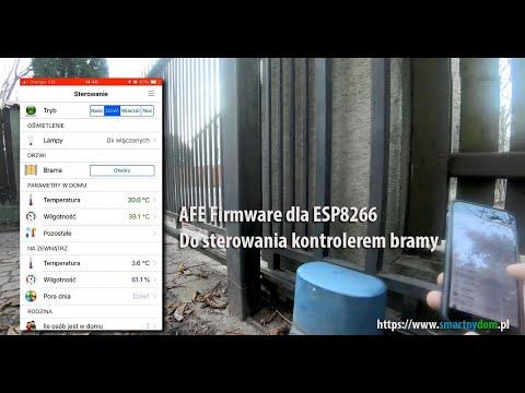 Brama wjazdowa sterowana Smartfonem z Domoticz, openHab z AFE Firmware