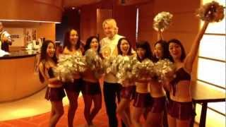 Cheer Action at Tokyo American Club for Super Bowl 47