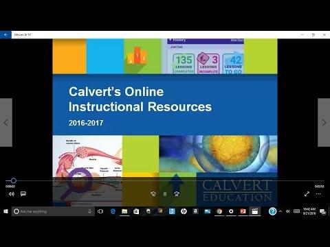 Calvert's K-8 Online Resources
