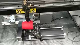 CO2 laser engraving for marking on ceramic cup thumbnail