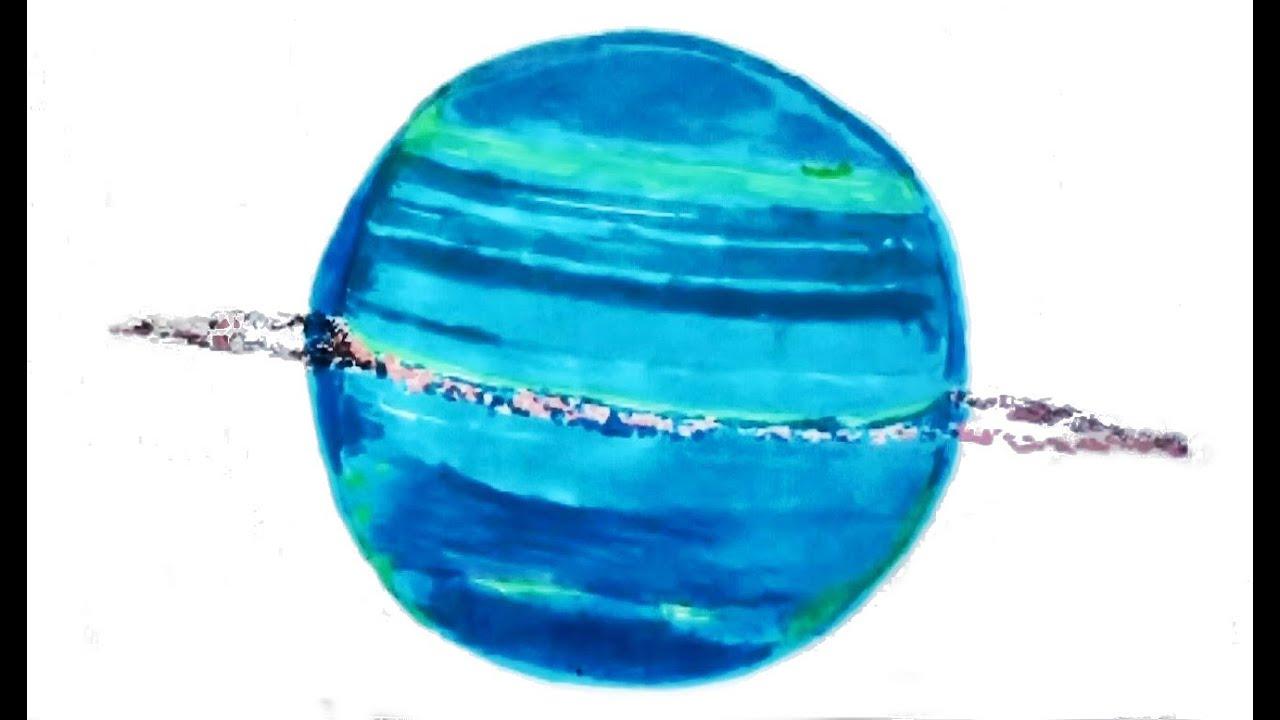 How To Draw Uranus The Planet