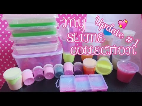 MY SLIME COLLECTION #UPDATE1 [ MINI , MEDIUM , LARGE SIZE ] RANDOM TEXTURE & COLOUR