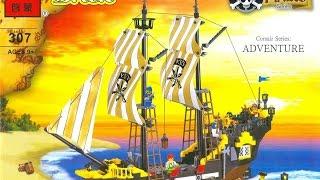 Обзор конструктора brick 307.Большой пиратский корабль!