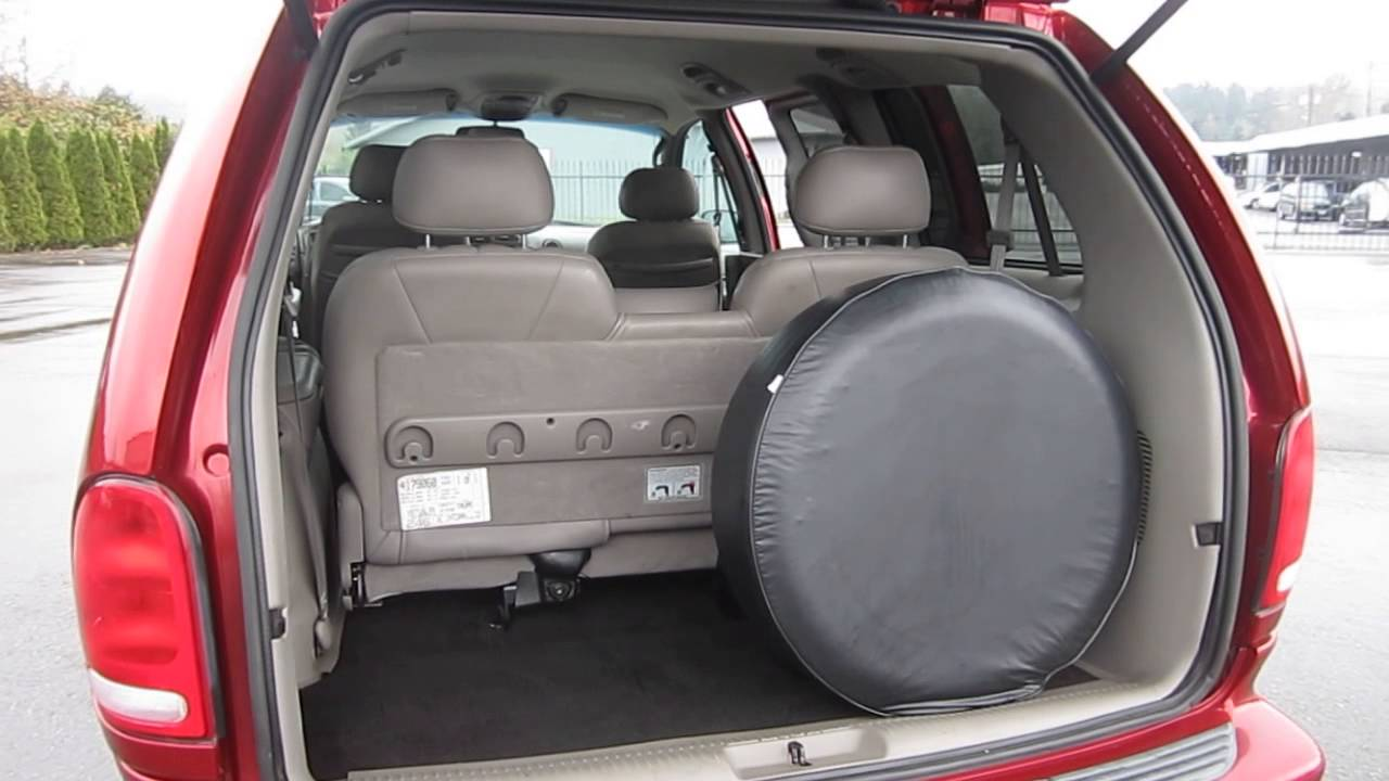 medium resolution of 2000 chrysler town country red stock 718639 interior